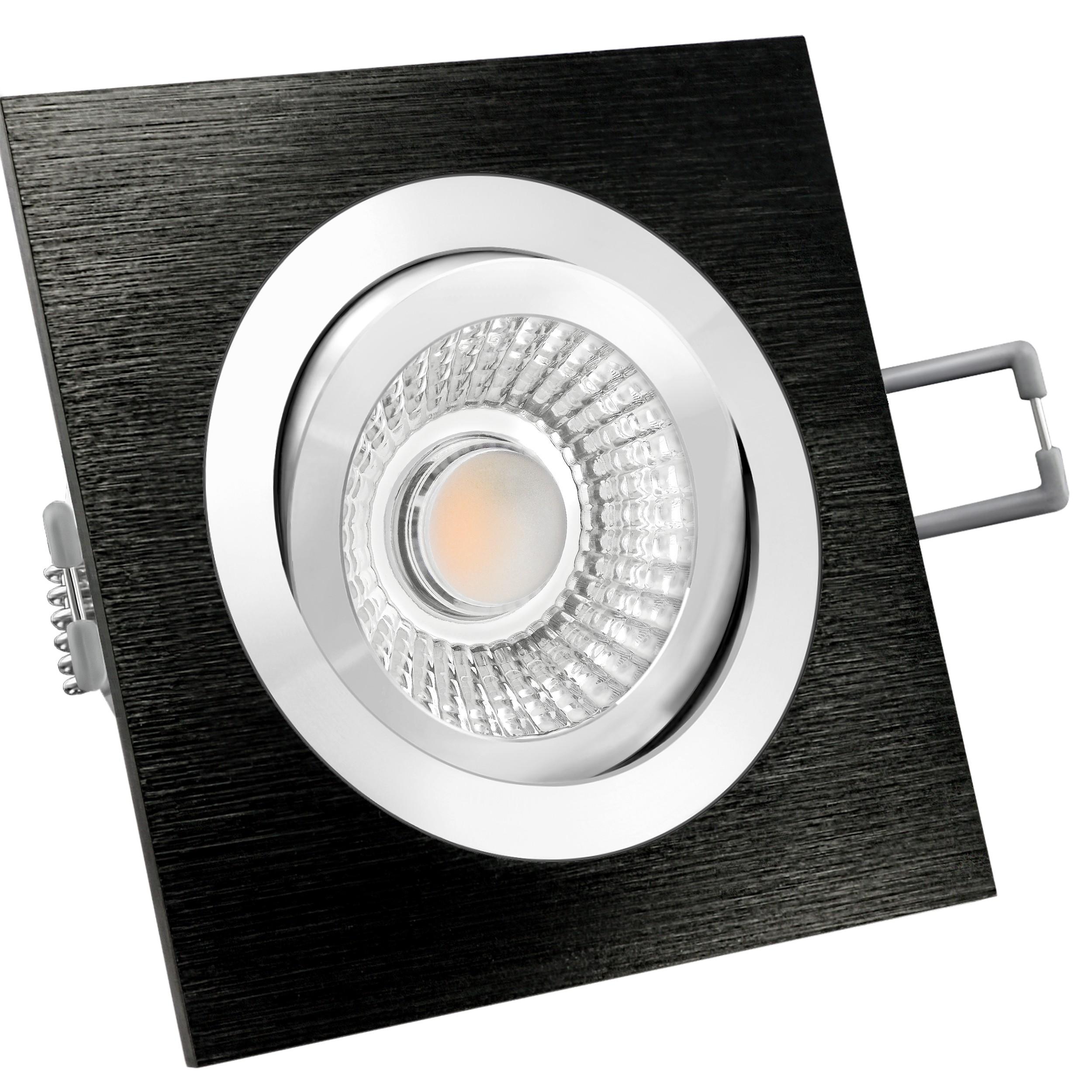 flach und schwenkbar LED-Modul 5W warm weiß 2700K QF-2 LED-Einbauleuchte weiß