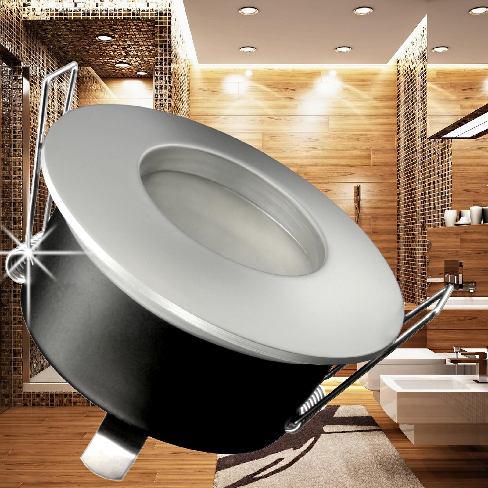 rw 1 led einbaustrahler feuchtraum ip65 54 leds ww gu10 ebay. Black Bedroom Furniture Sets. Home Design Ideas