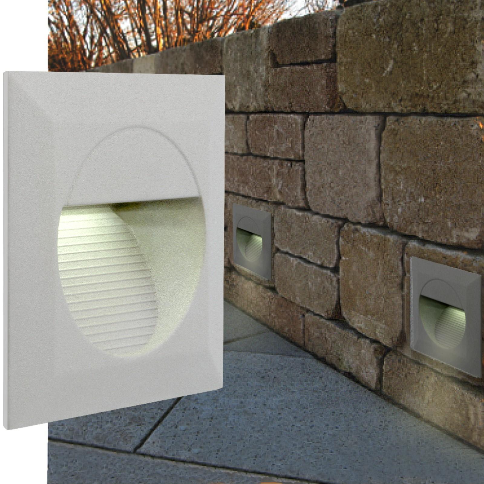 led wandeinbauleuchte treppenleuchten mini j02 230v ip65. Black Bedroom Furniture Sets. Home Design Ideas