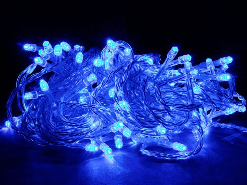 led lichterkette blau 100leds ip44 f r innen und au en weihnachten deko xmas ebay. Black Bedroom Furniture Sets. Home Design Ideas