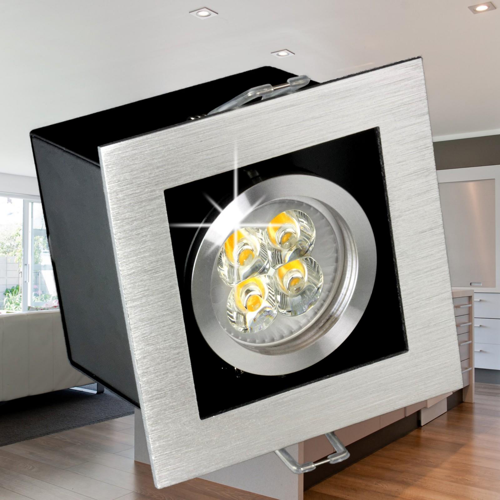 k1 alu led einbaustrahler leuchte kardanisch dimmbar. Black Bedroom Furniture Sets. Home Design Ideas