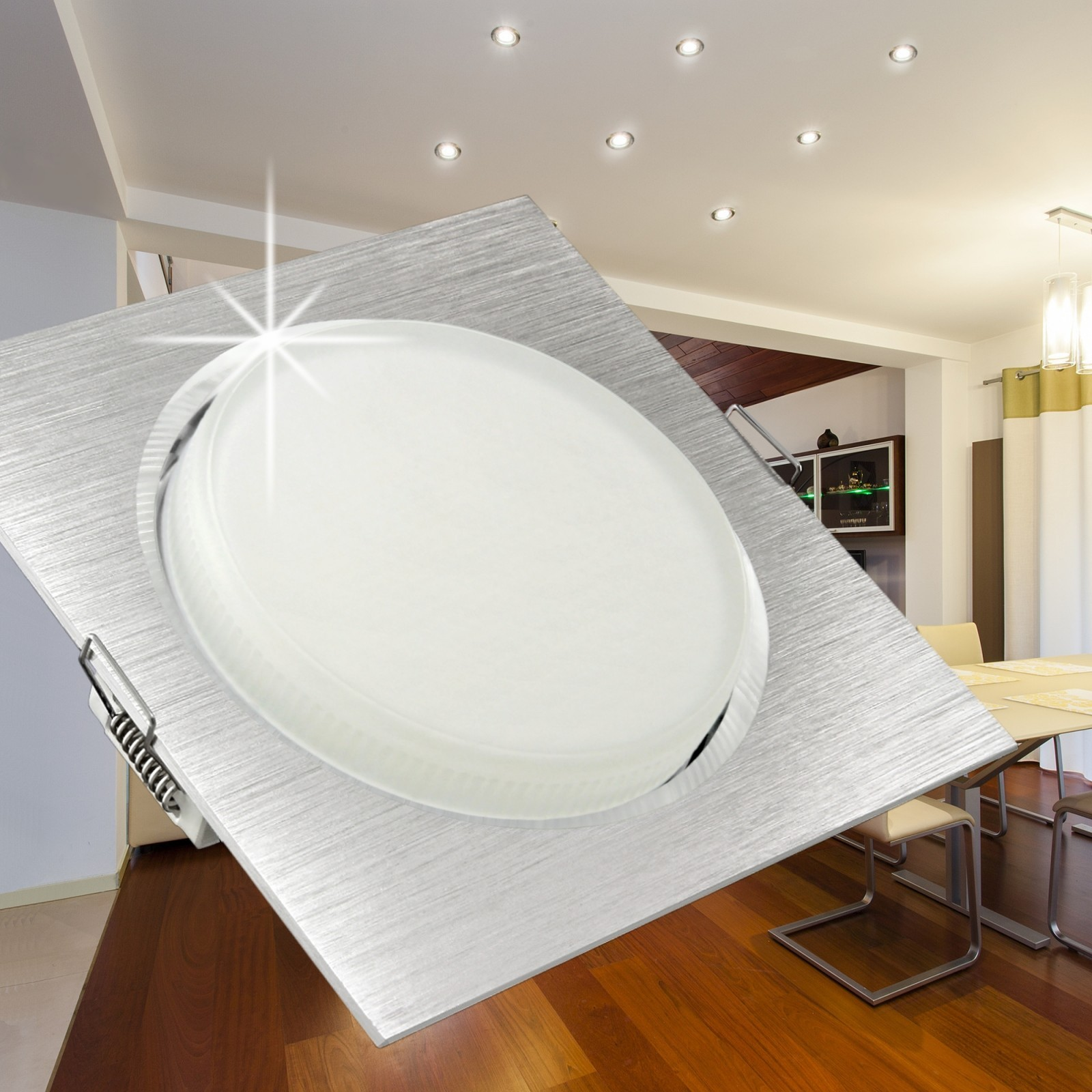 RX-3 / RX-4 flache LED-Einbauleuchten Einbaustrahler Spots ...