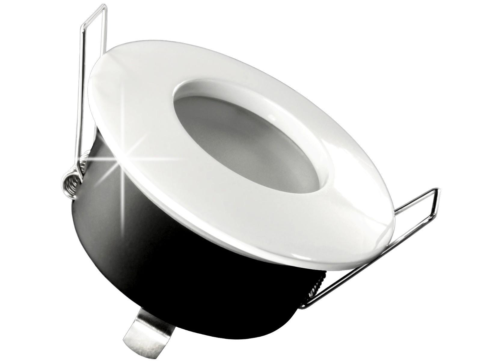rw 1 led einbaustrahler weiss bad dusche aussenbereich feuchtraum ip65 5w led warmwei. Black Bedroom Furniture Sets. Home Design Ideas