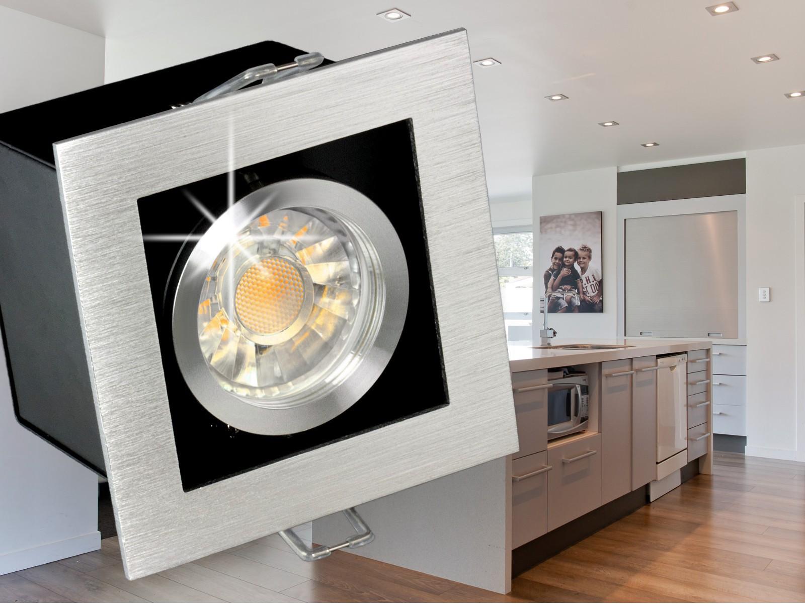 k1 led einbaustrahler leuchte alu kardanisch schwenkbar 5w smd warmwei dimmbar gu10 230v in. Black Bedroom Furniture Sets. Home Design Ideas