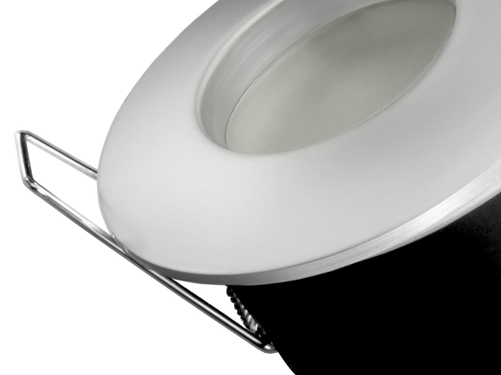 rw 1 led einbaustrahler spot bad dusche chrom matt ip65 4 3w warmwei gu10 230v osram led star. Black Bedroom Furniture Sets. Home Design Ideas