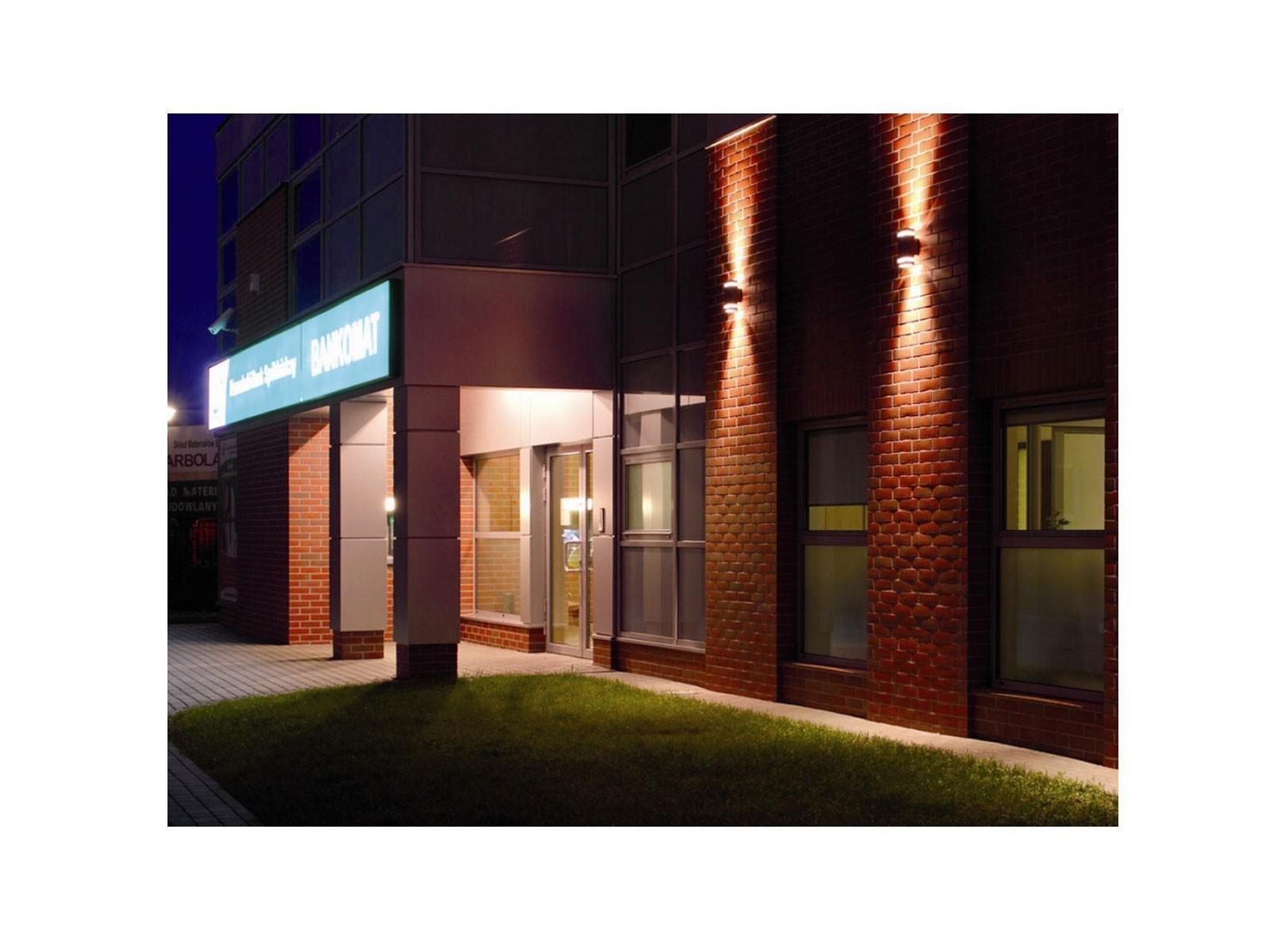 wandlampe up down au en wandleuchte aufbau leuchte alu ip44 grau incl 2 led 5w 230v gu10. Black Bedroom Furniture Sets. Home Design Ideas
