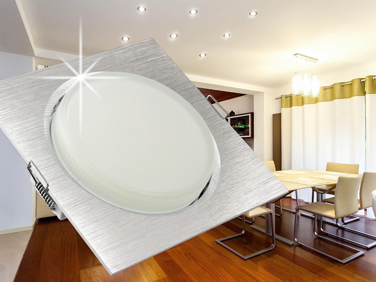 flacher led einbaustrahler einbauleuchte rx 4 alu mit 3 5w gx53 leuchtmittel warmweiss. Black Bedroom Furniture Sets. Home Design Ideas