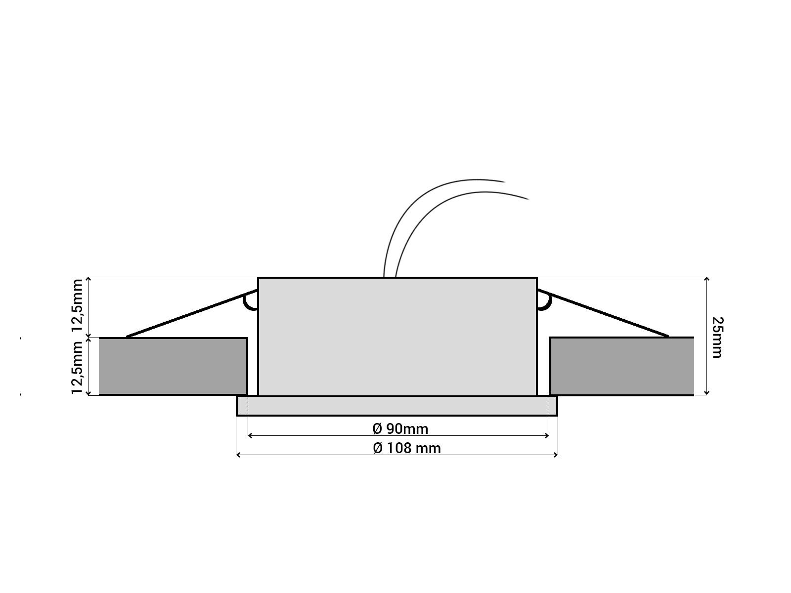 rx 3 alu led einbauleuchte geringe einbautiefe gx53 5 5w 230v 30 smd leds tageslicht neutral. Black Bedroom Furniture Sets. Home Design Ideas