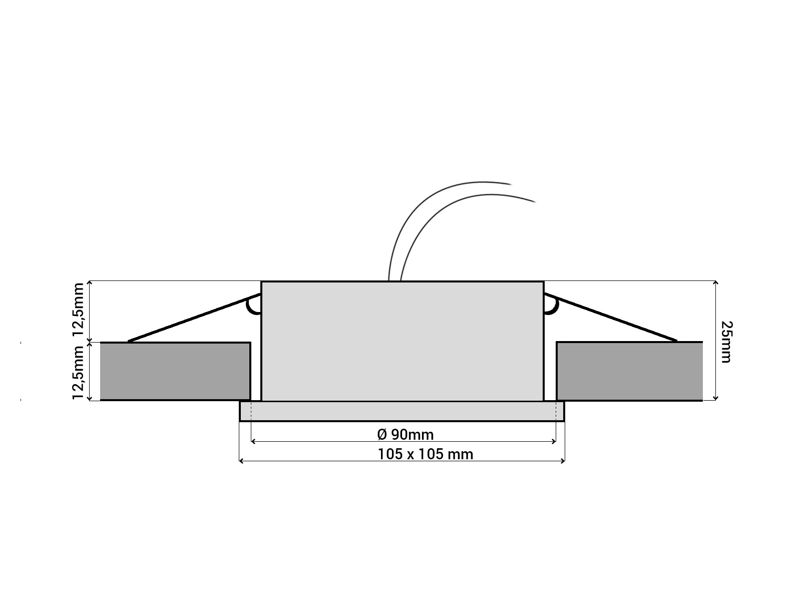 rx 4 alu led einbauleuchte quadratisch geringe einbautiefe. Black Bedroom Furniture Sets. Home Design Ideas