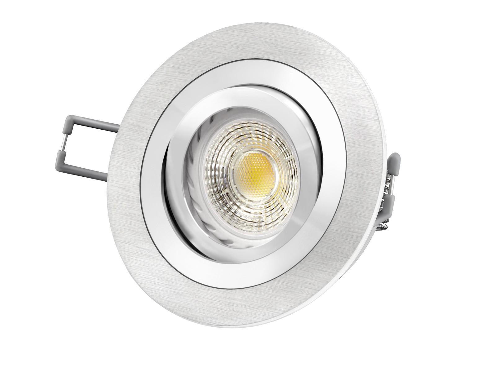 Rf 2 aluminium led einbaustrahler leuchte rund 3 5w smd for Led leuchte rund