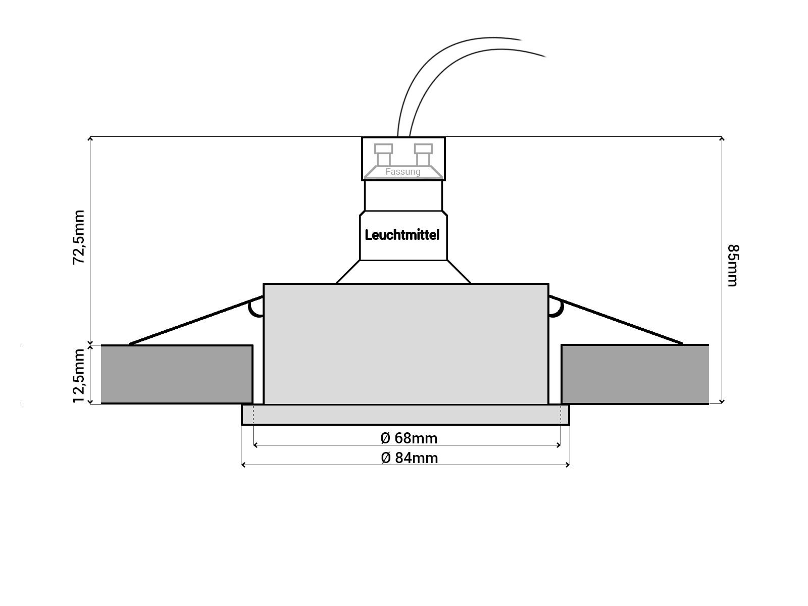 rw-1 led-einbaustrahler weiss, bad dusche aussenbereich feuchtraum