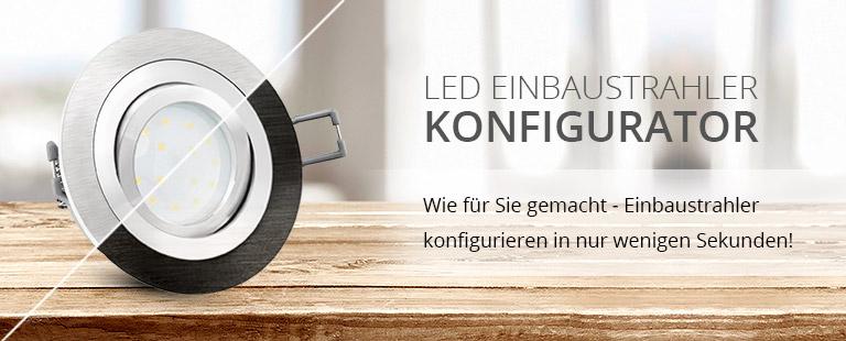 led einbaustrahler konfigurator led lichtraum. Black Bedroom Furniture Sets. Home Design Ideas