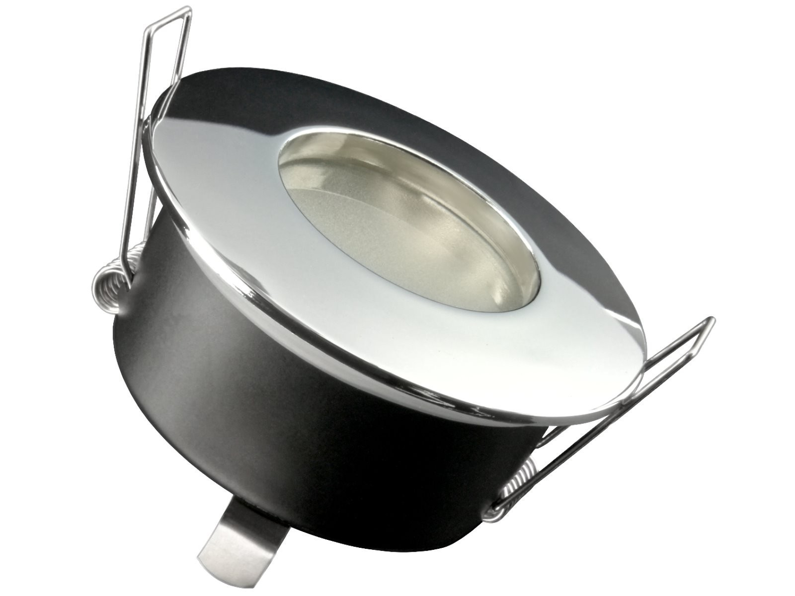 rw 1 feuchtraum led einbauspot strahler chrom ip65 bad dusche 5w cob led neutralwei gu10 230v. Black Bedroom Furniture Sets. Home Design Ideas
