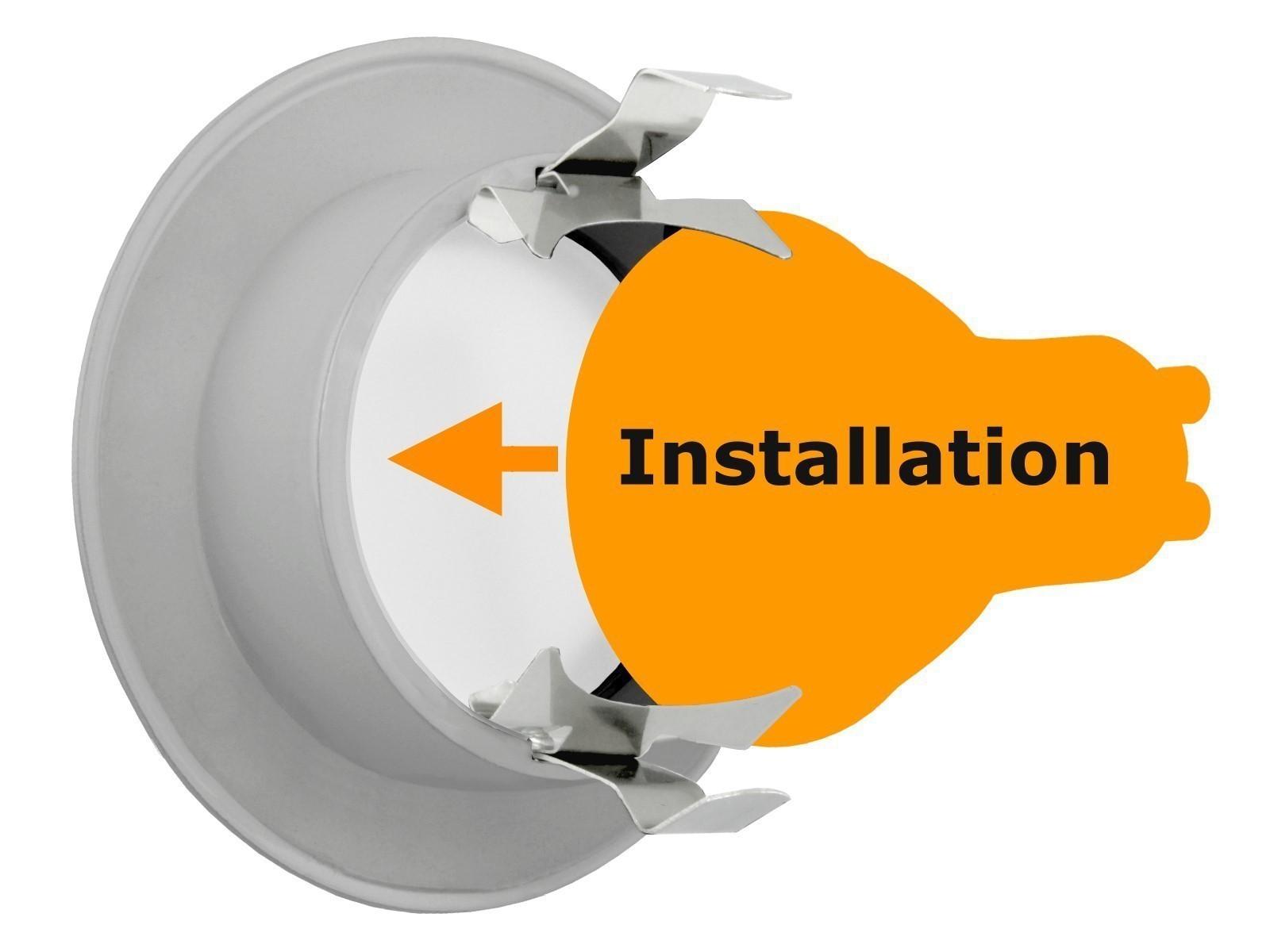 Dusche Led Strahler : Feuchtraum LED-Einbauspot Strahler chrom, IP65 Bad Dusche, 5W SMD LED