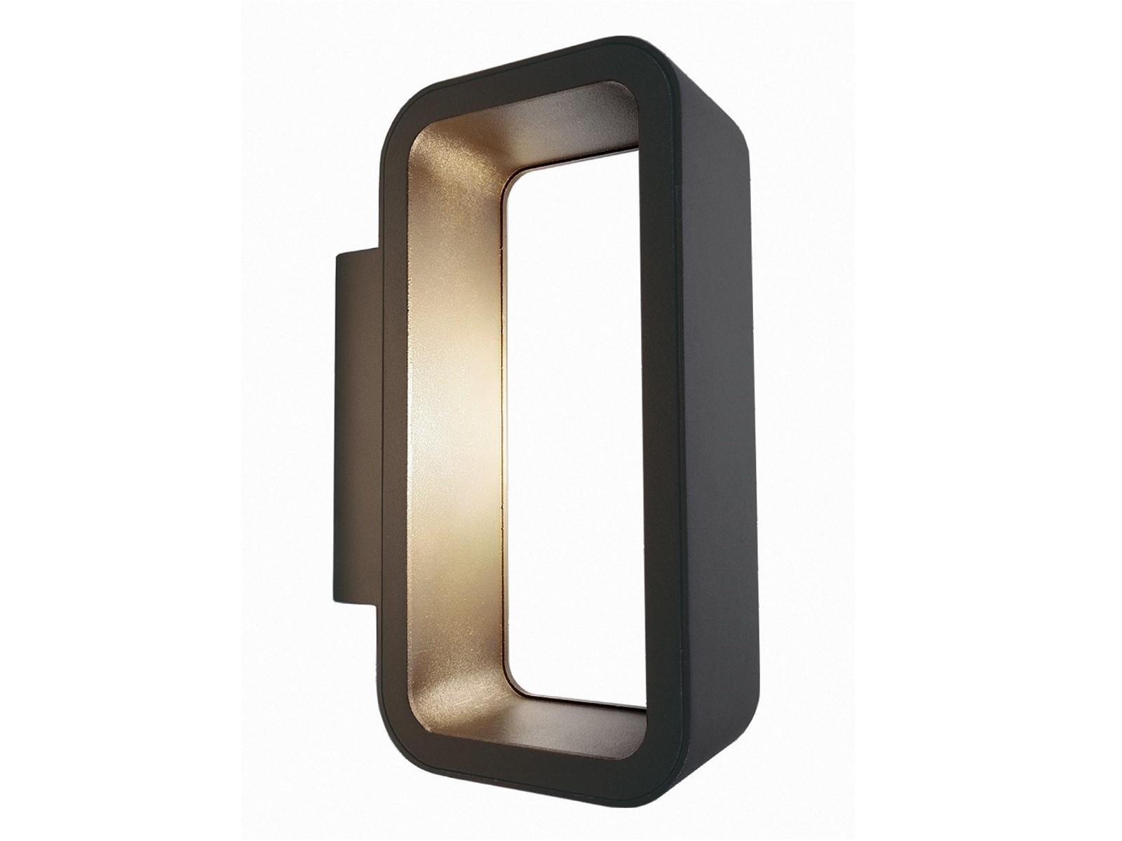 led au enleuchte wandleuchte anado in anthrazit mit 9w led warm wei 230v ip54. Black Bedroom Furniture Sets. Home Design Ideas